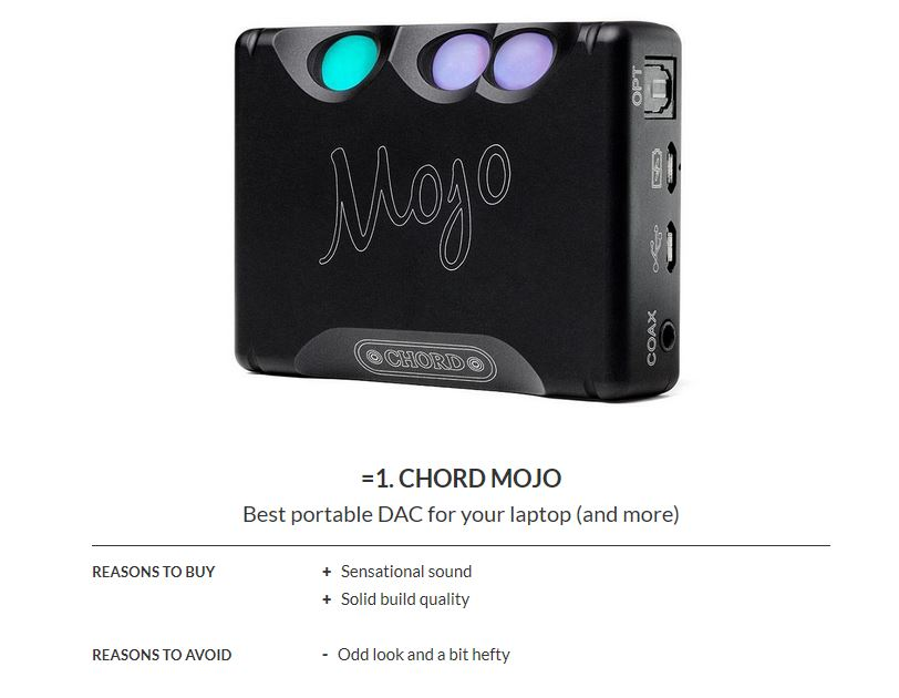 Год спустя: Chord Mojo по-прежнему первый